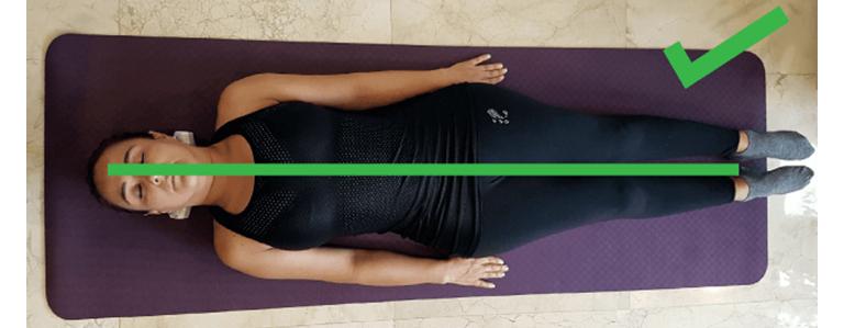 Correcta posición del cuerpo al usar Sacrus