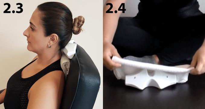 En caso de sentir molestia puedes poner una toalla encima de CORDUS para disminuir la presión.