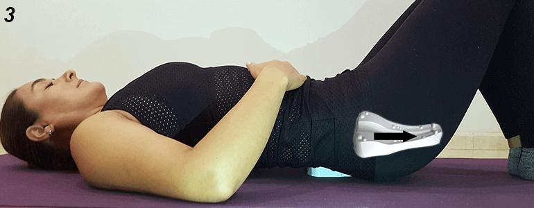 Sacrus con piernas dobladas 3 o 4 min