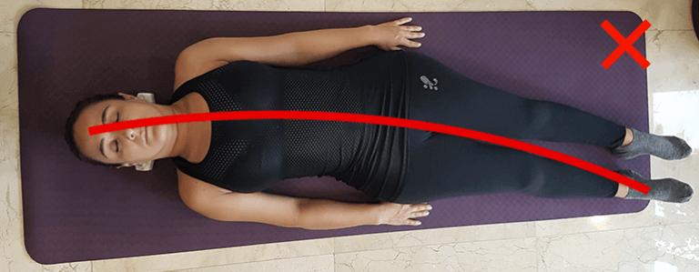 Incorrecta posición del cuerpo al usar Sacrus