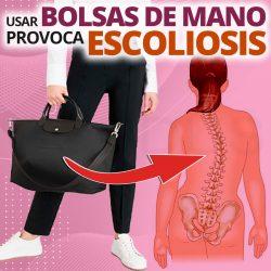 Usar bolsas de mano provoca escoliosis