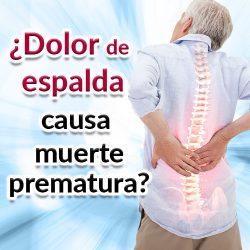 El dolor de espalda causa muerte prematura